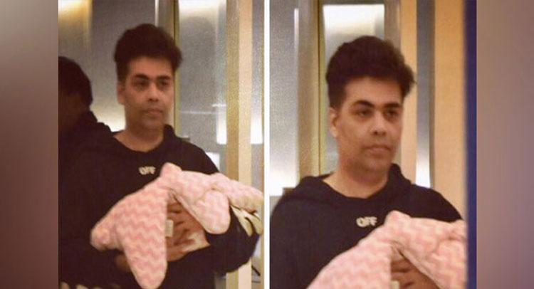 50 दिन बाद जुडवां बच्चों को लेकर घर पहुंचे करन जौहर