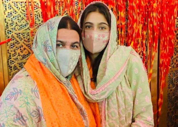मां अमृता सिंह के साथ अजमेर शरीफ पहुंची सारा अली खान, देखें तस्वीरें
