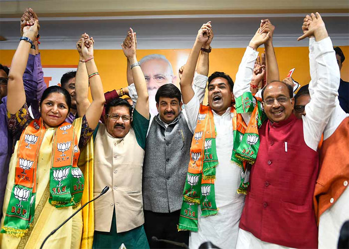 Shyam jaju with delhi bjp leaders