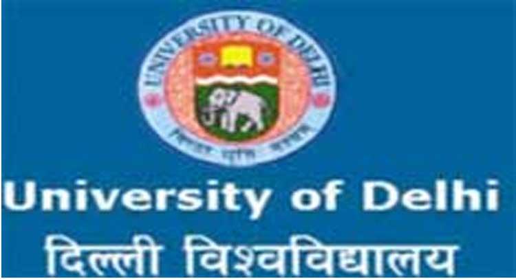 डीयू कुलपति कार्यालय के बाहर मांगों के लिए डूटा ने की भूख हड़ताल