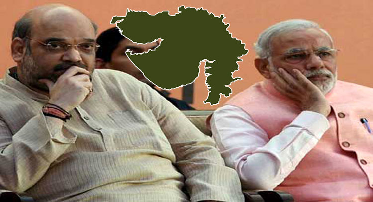 गुजरात चुनाव : अपने ही नेता हुए बागी, अमित शाह की मौजूदगी में सामूहिक इस्तीफे की धमकी