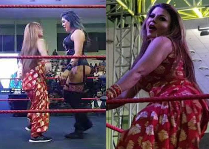 जब लाल सूट पहन WWE की रिंग में उतरीं राखी सावंत, हुआ ये