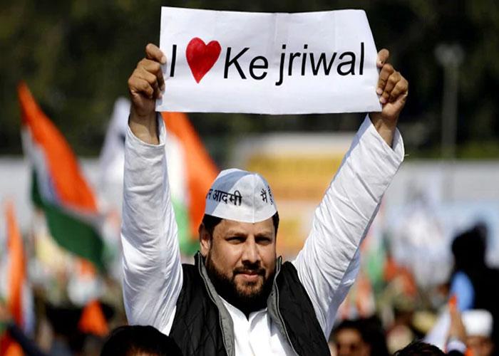 Kejriwal Supporters in ramlila maidan