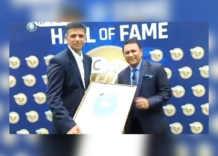 पूर्व भारतीय कप्तान राहुल द्रविड़ को हॉल ऑफ फेम से नवाजा गया