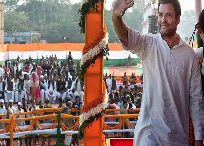 Rahul gandhi in rally