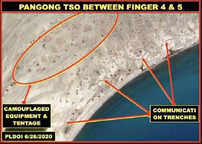 भारत-चीन सीमा के पास चीनियों ने बनाया नक्शा, लिखा 'चीन', देखें Photos...