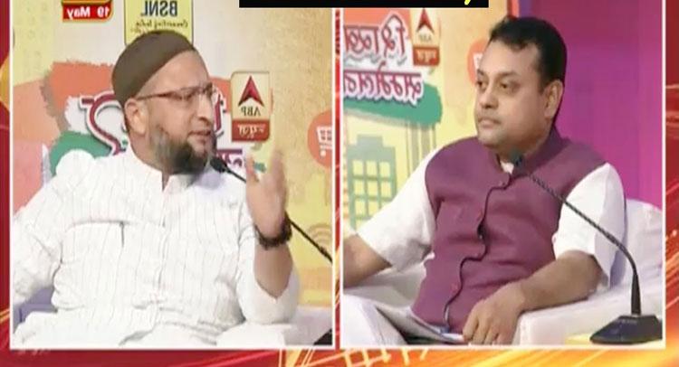 टीवी पर रोहिंग्या मुस्लमानों को लेकर असदुद्दीन ओवैसी से भिड़े संबित पात्रा