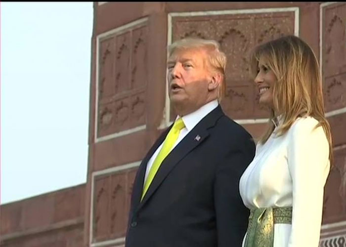Donald trump with wife