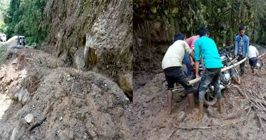 देहरादून: भूस्खलन के चलते गाड़ी गांव के चार भवन खतरे की जद में