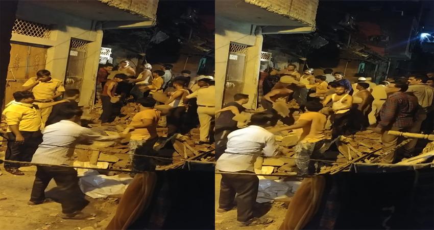 दिल्ली के सीलमपुर इलाके में गिरी 4 मंजिला इमारत, दो लोगों की मौत