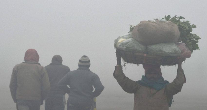 शीतलहर में ठिठुरा उत्तर भारत, UP में 5 की मौत, अगले चार दिनों तक और बढ़ेगा कोहरा