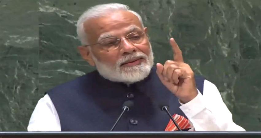 UN महासभा में बोले PM नरेंद्र मोदी- भारत ने दुनिया को युद्ध नहीं, महात्मा बुद्ध दिए