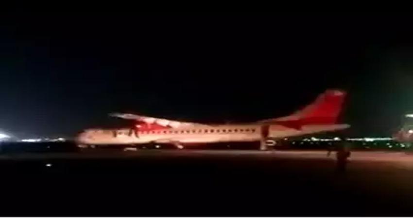 अलायंस एयर के विमान की दिल्ली एयरपोर्ट पर आपात लैंड़िग, सभी यात्री सुरक्षित