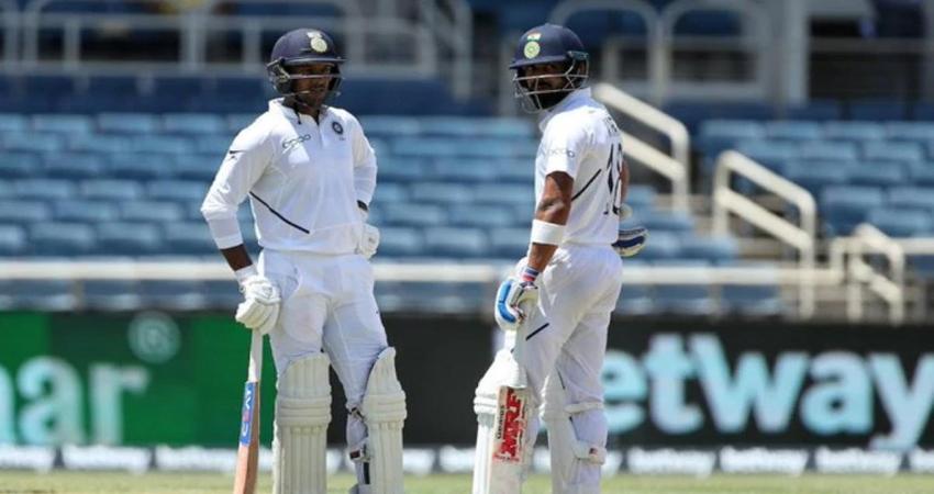 Ind vs WI: भारत ने दूसरे टेस्ट की पहली पारी में बनाए 5 विकेट पर 264 रन