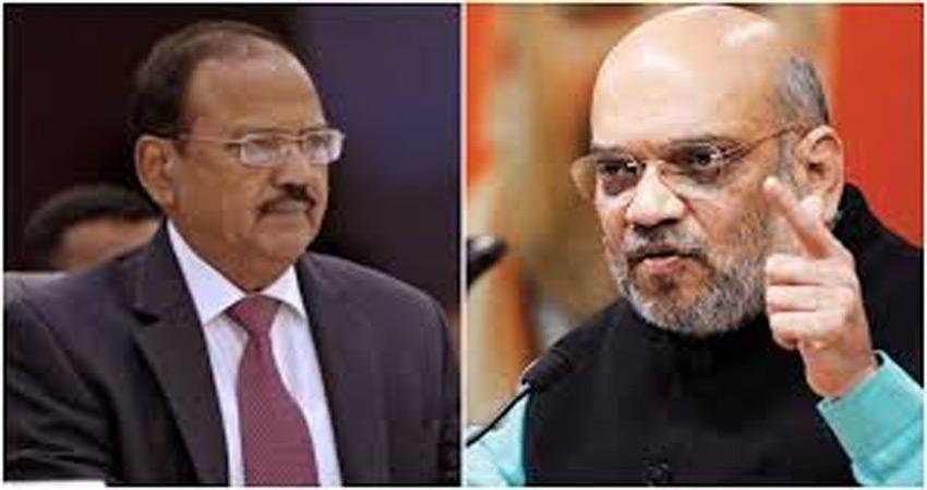 कश्मीर मुद्दे पर अमित शाह की अहम बैठक, NSA डोभाल सहित कई शीर्ष अधिकारी रहें मौजूद