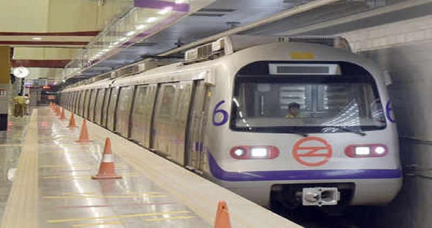 आज से वायलेट, रेड और ग्रीन लाइन मेट्रो शुरू, बढ़ने लगी है यात्रियों की तादाद