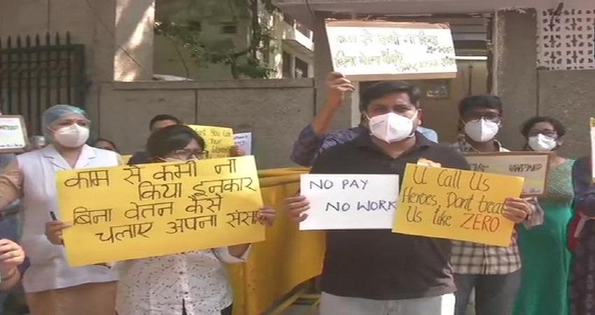 वेतन की मांग पर डॉक्टरों की हड़ताल जारी, आज से 9 अस्पतालों में दो घंटे नहीं होगा काम