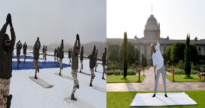 गलवान घाटी से दिल्ली तक देश में मनाया जा रहा ''अंतरराष्ट्रीय योग दिवस''