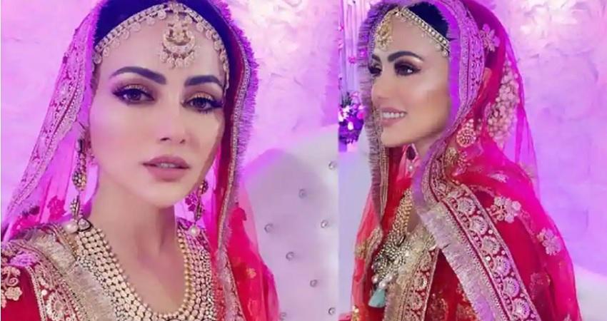 सना खान ने शेयर की वलीमे की Video, लाल जोड़े में लग रहीं बला की खूबसूरत
