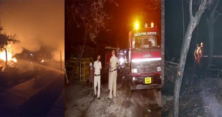 दिल्लीः तुगलकाबाद के बस्ती में लगी आग, 70 से ज्यादा झुग्गियां तबाह