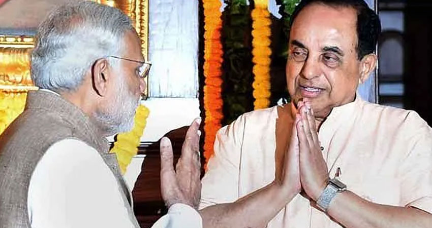 सुब्रह्मण्यम स्वामी ने मोदी सरकार पर ही उठाए सवाल, #GST को बताया पागलपन