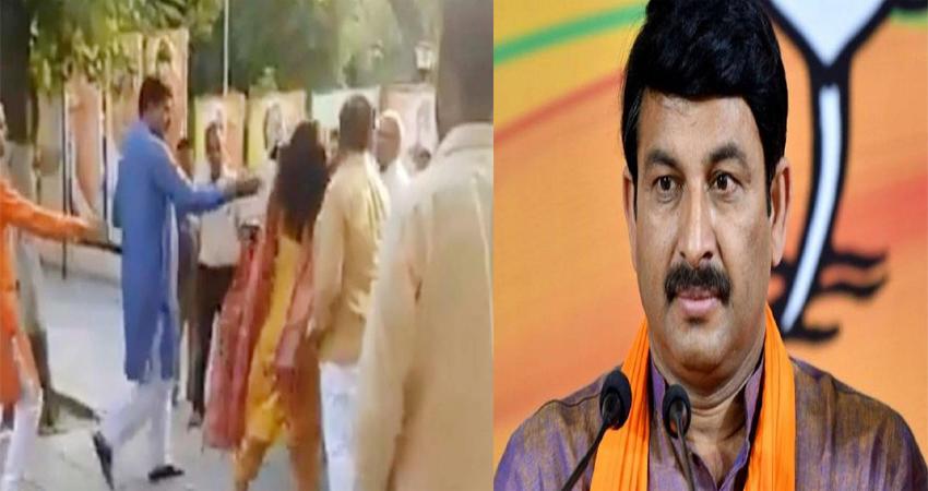 बीजेपी नेता ने कार्यालय में सबके सामने अपनी पत्नी सरिता चौधरी को जड़ा थप्पड़