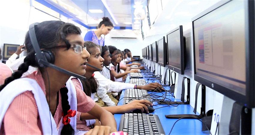 निगम स्कूल के बच्चों को ''वर्ल्ड ऑन व्हील ' से मिलेगी कंप्यूटर की शिक्षा
