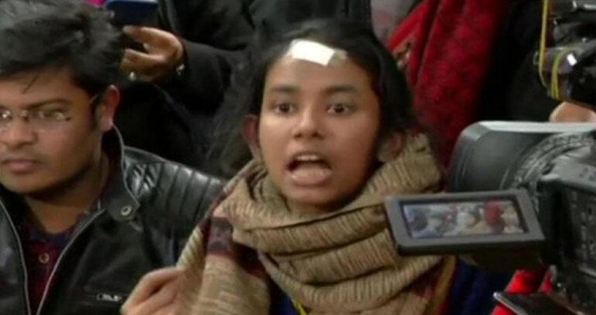 दिल्ली पुलिस के आरोपों पर JNUSU का पलटवार, कहा- जेएनयू के कुलपति की भाषा बोल रही है