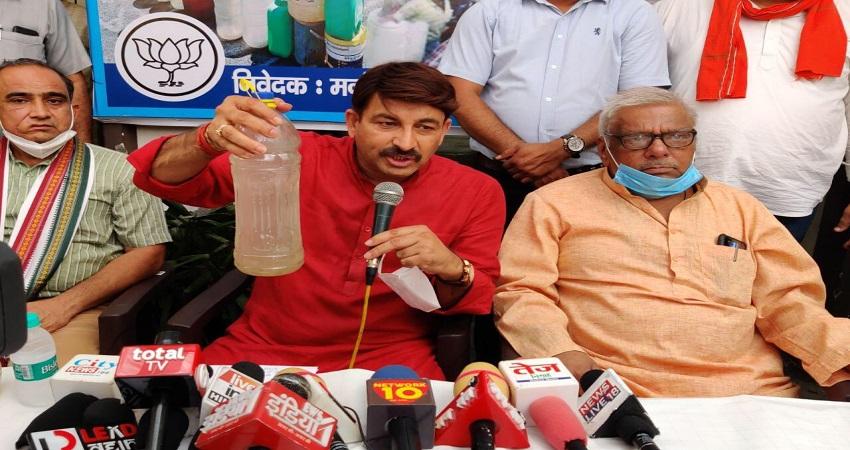जल पंचायत आयोजित कर BJP सांसद मनोज तिवारी नें केजरीवाल सरकार पर साधा निशाना