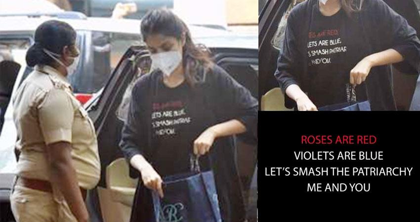 रिया के सपोर्ट में सामने आए बॉलीवुड स्टार्स, शेयर किया उनकी टी-शर्ट पर लिखा ये पैट्रियाकी मैसेज