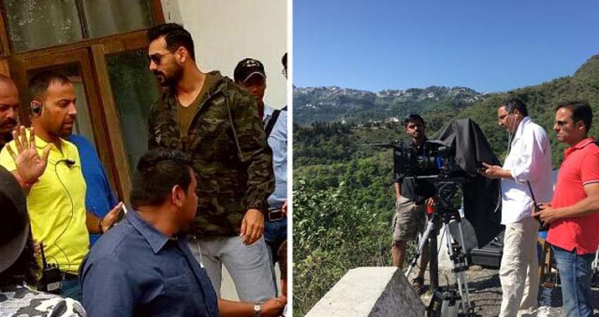 ''बटला हाउस'' की शूटिंग के लिए वादियों के बीच पहुंचे जॉन अब्राहम