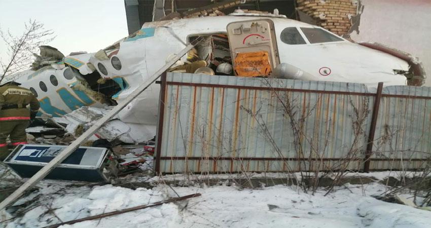 कजाकिस्तान में 100 लोग से भरा विमान दुर्घटनाग्रस्त