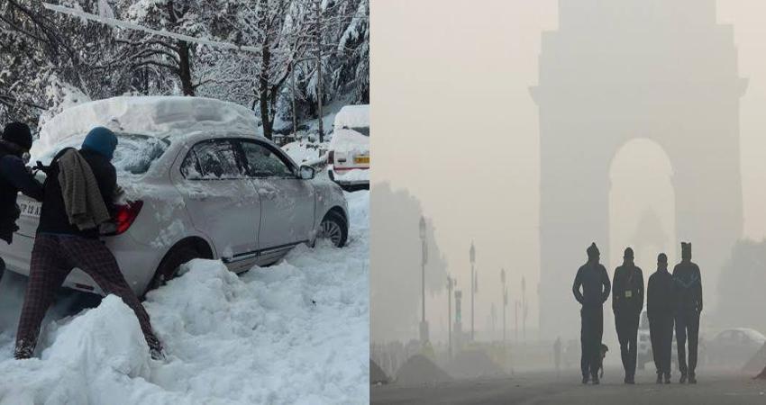 उत्तर भारत के पहाड़ी राज्यों में बर्फबारी से तीन लोगों की मौत, ठंड का प्रकोप जारी