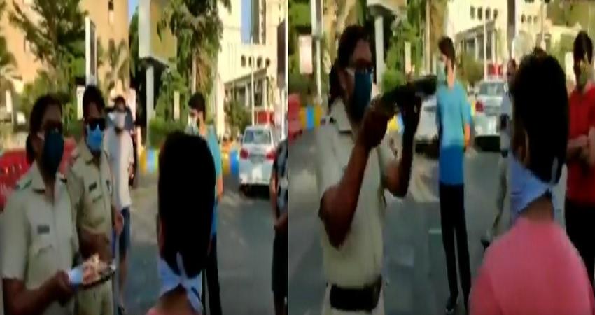 ठाणे में लॉकडाउन तोड़ने वालों की पुलिस ने उतारी आरती, देखें Video