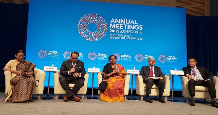 IMF के अनुमान के बावजूद, भारत सबसे तेजी से विकसित होती अर्थव्यवस्था में शामिल: सीतारमण