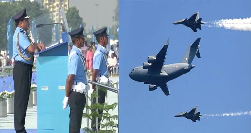 #AirForceDay: बालाकोट के ''हीरो'' ने हिंडन में भरी हुंकार, अपाचे-चिनूक ने दिखाया दम