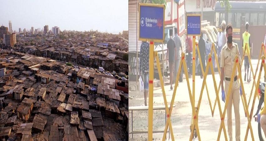 धारावी में नहीं थम रहा संक्रमितों का आंकड़ा, इलाके में की गई पुलिस बैरिकेडिंग