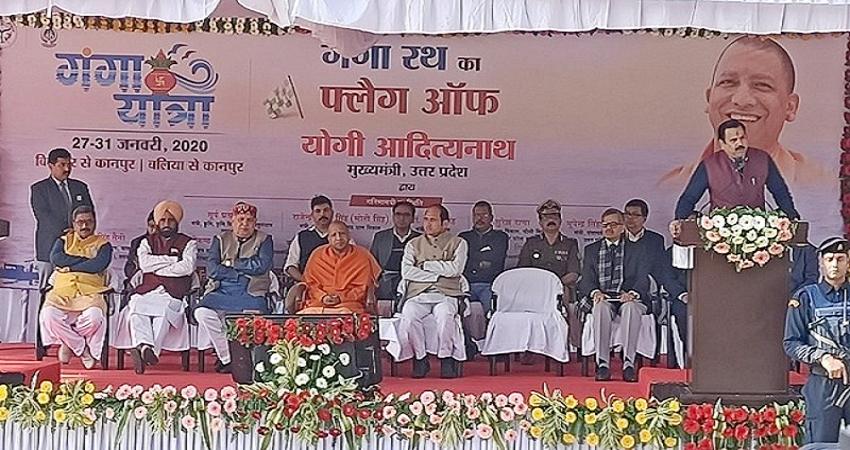पांच दिवसीय गंगा यात्रा पर CM योगी, इन जिलों का करेंगे दौरा