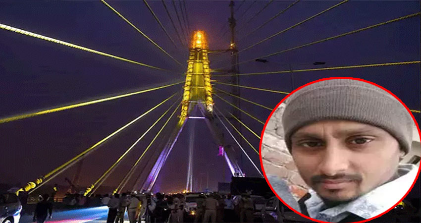हादसों के पुल में तब्दील हुआ सिग्नेचर ब्रिज, तार टूटकर गिरने से युवक की मौत