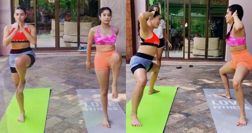 Maldives पहुंचकर सारा और जान्हवी ने साथ में किया Workout, वीडियो हुआ वायरल