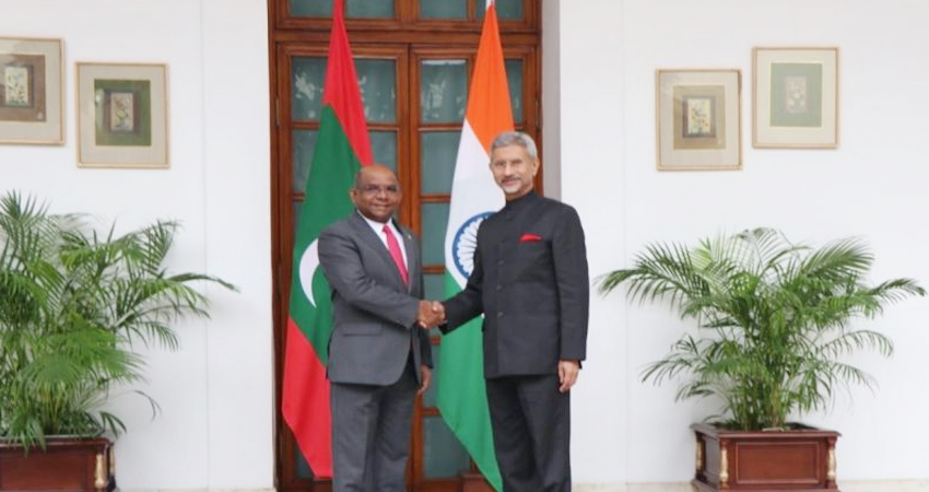जयशंकर ने मालदीव के विदेश मंत्री से की मुलाकात, द्विपक्षीय संबंधों की गति पर हुई चर्चा