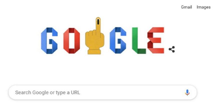 #LoksabhaElection2019: वोटर्स को जागरूक करने के लिए गूगल ने बनाया खास डूडल
