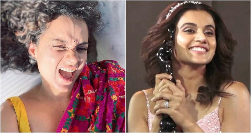 Filmfare Awards में तापसी ने कंगना को कहा Thank you, एक्ट्रेस ने दिया ऐसा रिएक्शन