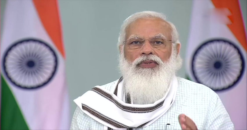 PM मोदी ने जापान के सहयोग से बने अंतरराष्ट्रीय सम्मेलन केंद्र 'रुद्राक्ष' का किया उदघाटन