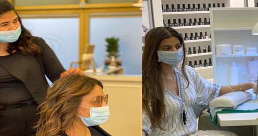 दुबई में बेटी सुहाना संग गौरी खान ने बदला अपना लुक, सैलून से तस्वीरें हुई वायरल
