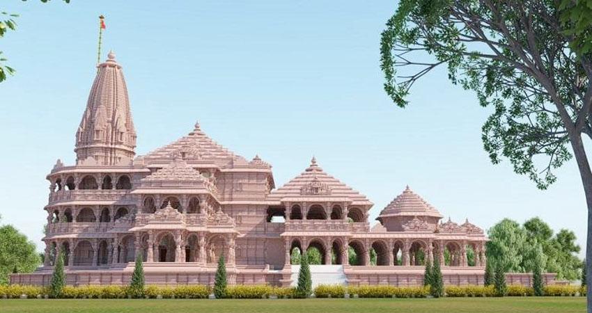 अयोध्या में भव्य राम मंदिर निर्माण काम तेज, निर्माण के लिए लाए जा रहे पत्थर