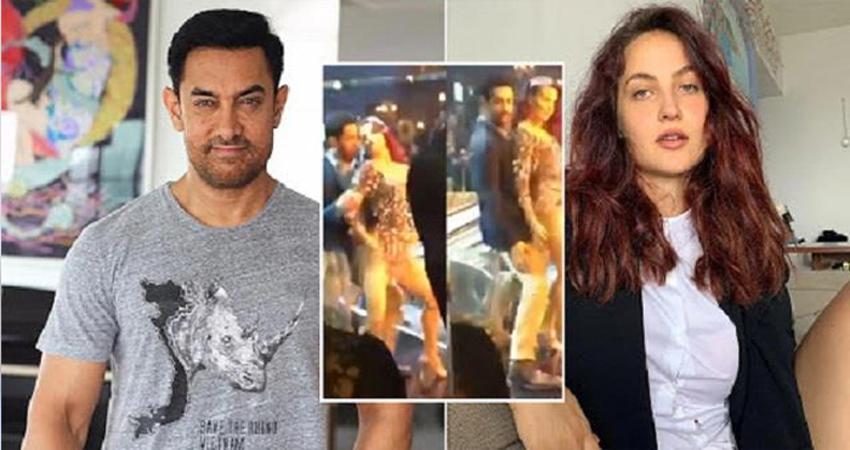 आमिर खान के साथ Elli Avram ने लगाए ठुमके, वीडियो हुआ वायरल