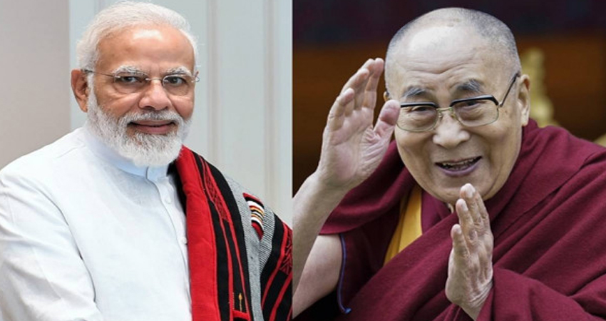 दलाई लामा ने प्रधानमंत्री मोदी को उनके जन्मदिन पर बधाई दी