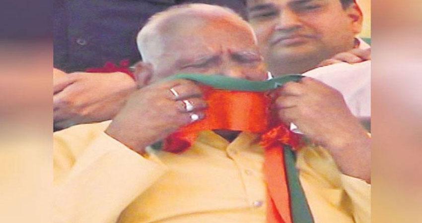 मंच पर बोलने का मौका नहीं मिलने से भावुक हुए BJP नेता, फूट-फूटकर रोने लगे