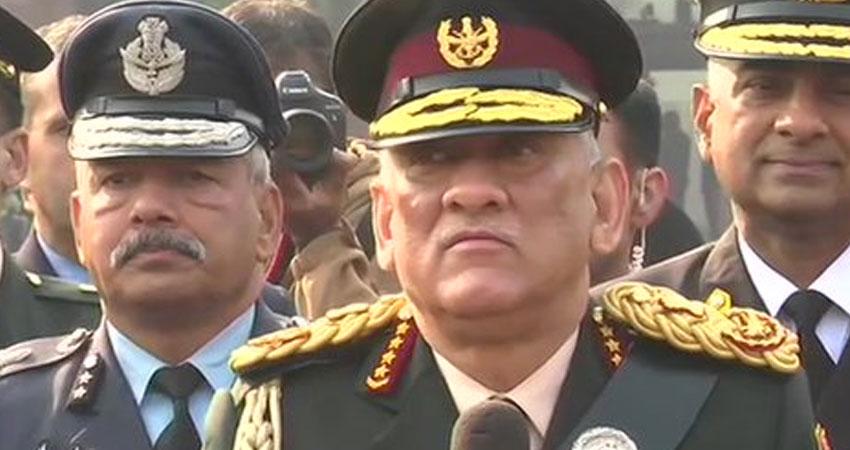 सेना के राजनीतिकरण के आरोपों पर CDS जनरल रावत ने दी पहली प्रतिक्रिया